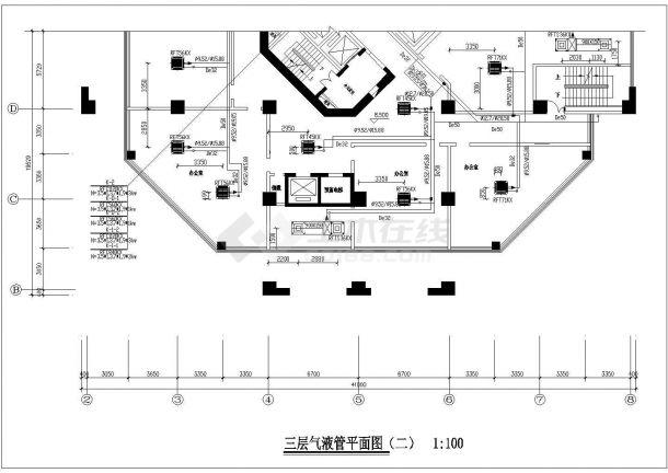 某31层综合楼暖通空调设计施工图纸cad图纸,66张-图二
