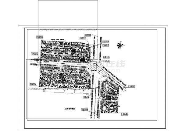 珠海市银泰嘉园小区总平面规划设计CAD图纸(占地4.7万平米)-图一