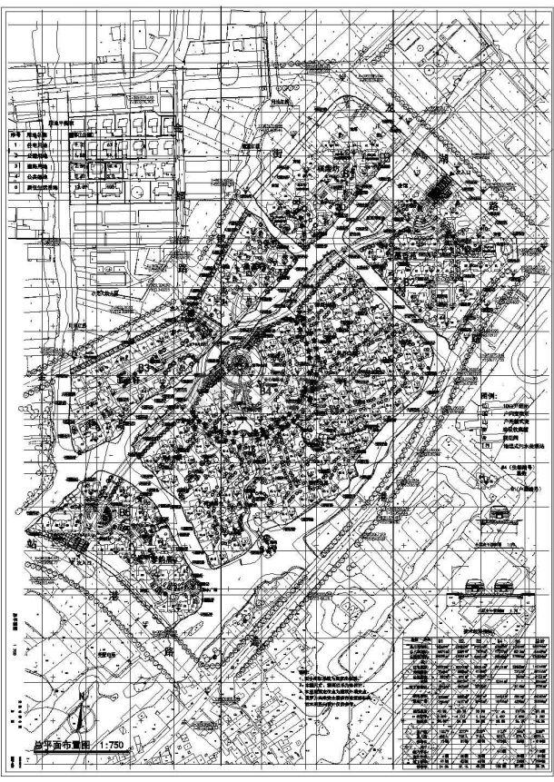 淮南市幸福花园小区总平面规划设计CAD图纸(占地14万平米)-图一