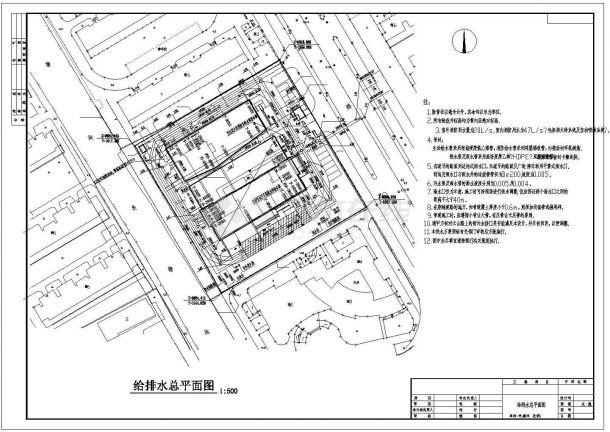 某11600㎡高层办公楼给排水设计CAD图-图二