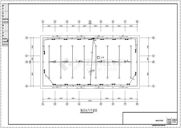 某三层办公楼电气设计方案CAD图纸(共6张图)-图二