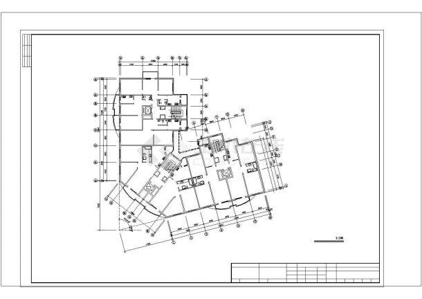 办公楼设计_小型小高层(八层)办公楼地板辐射采暖系统设计施工图CAD图纸-图二