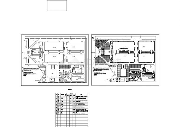 某地区大型制衣厂植物配置设计施工完整CAD图纸-图一