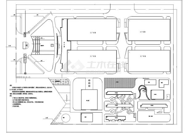 某地区大型制衣厂植物配置设计施工完整CAD图纸-图二
