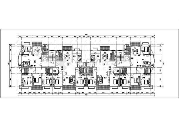 台州市银色港湾小区总平面规划设计CAD图纸(占地6万平/含24张户型图)-图一