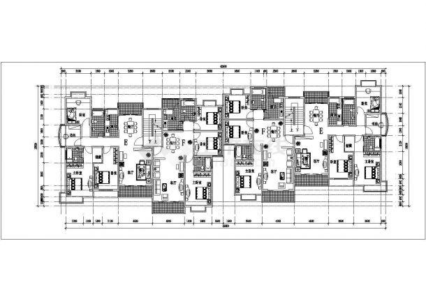 台州市银色港湾小区总平面规划设计CAD图纸(占地6万平/含24张户型图)-图二