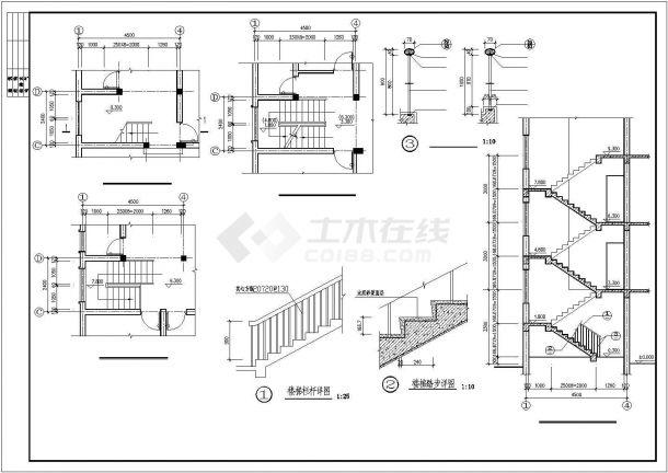 杭州市某社区540平米3层砖混结构联建住宅楼全套建筑设计CAD图纸-图一