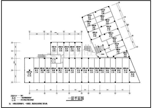 时代广场全套建筑设计方案图纸-图一