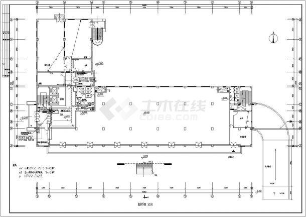 五层办公楼电气设计方案图(含设计说明)-图二
