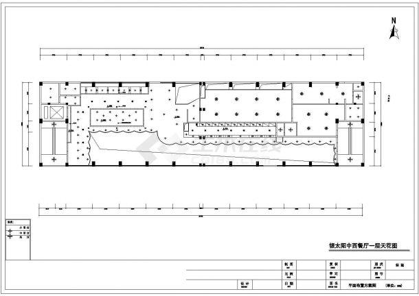 【常州】高档中餐厅装修施工CAD图纸-图一