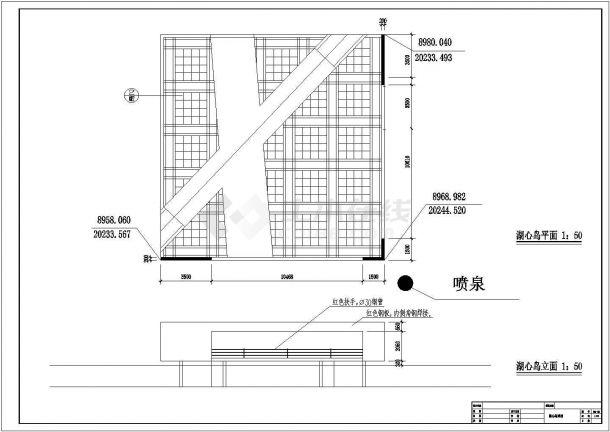 广东某工厂改造公园景观设计施工全套CAD图-图一