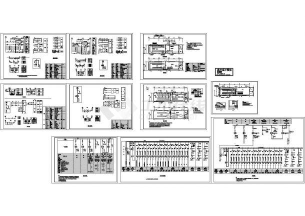 变电所电气图纸cad-图二