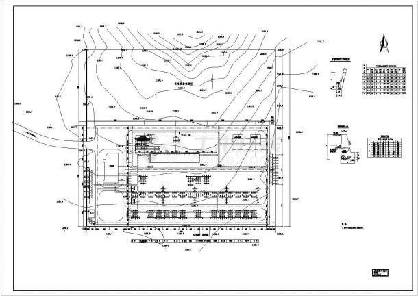 220kV变电站总体布置图cad图-图二
