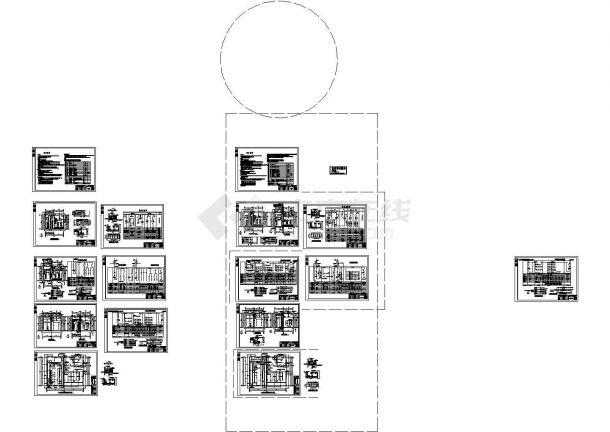 电站、变电所电气及设备12cad图纸-图一