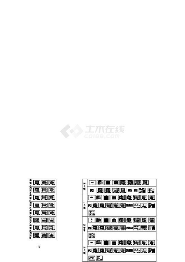 钢板桩围堰设计图纸93张CAD(8种平面布置支撑结构)-图二