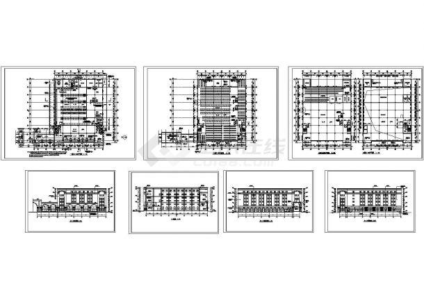 某地大型工业厂区房屋建筑设计方案详细施工平立剖CAD图纸-图一