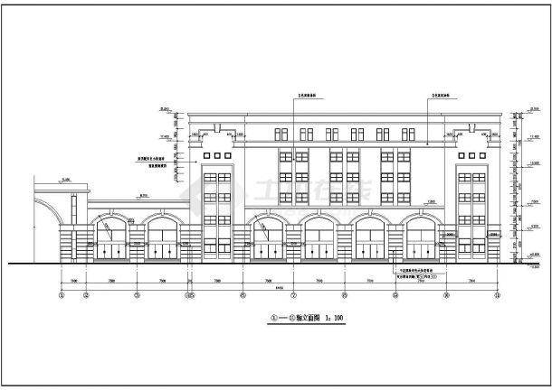某地大型工业厂区房屋建筑设计方案详细施工平立剖CAD图纸-图二