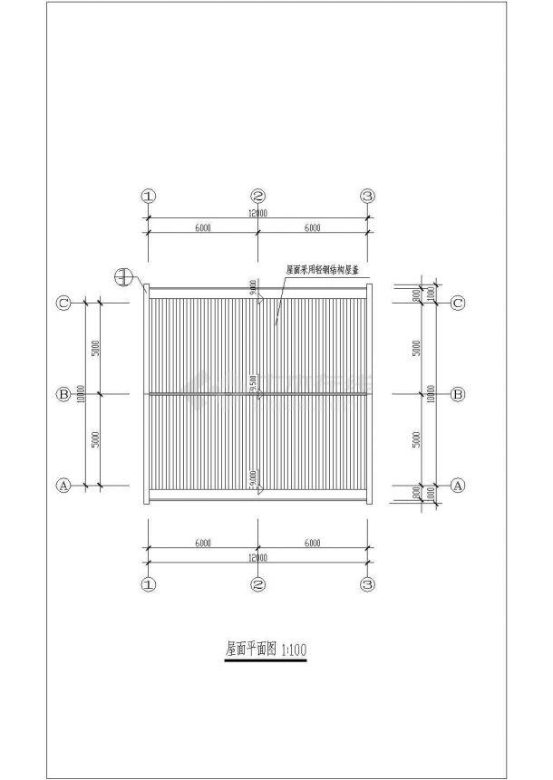 某地大型工业厂区房屋建筑设计方案详细施工CAD图纸-图二
