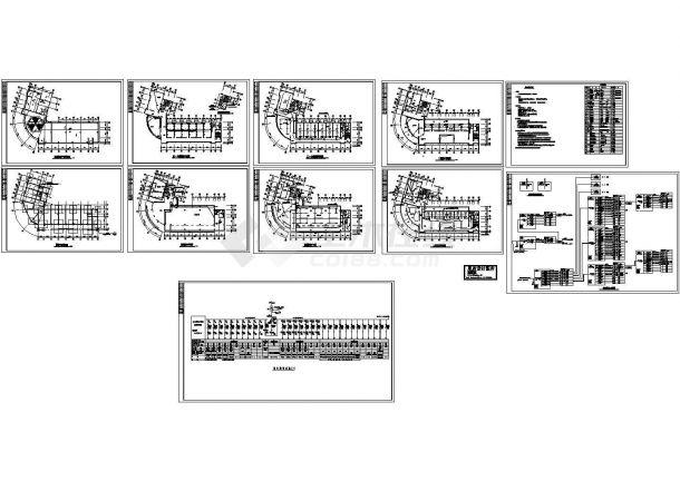 办公楼设计_营业办公楼电气施工图cad图纸-图二