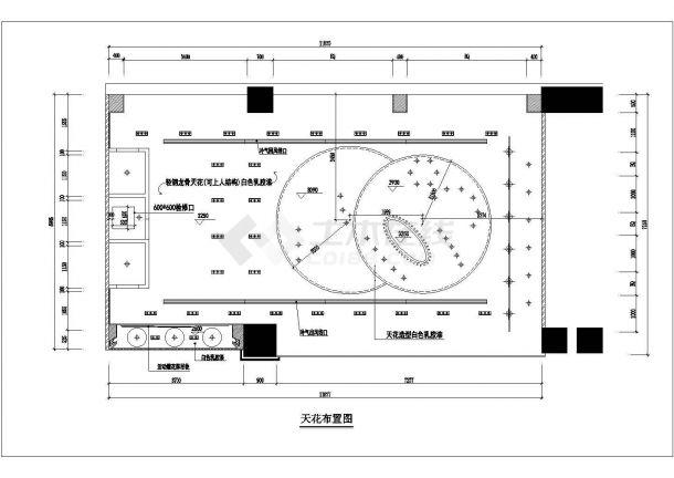 某品牌服装店室内装修设计cad施工图-图二