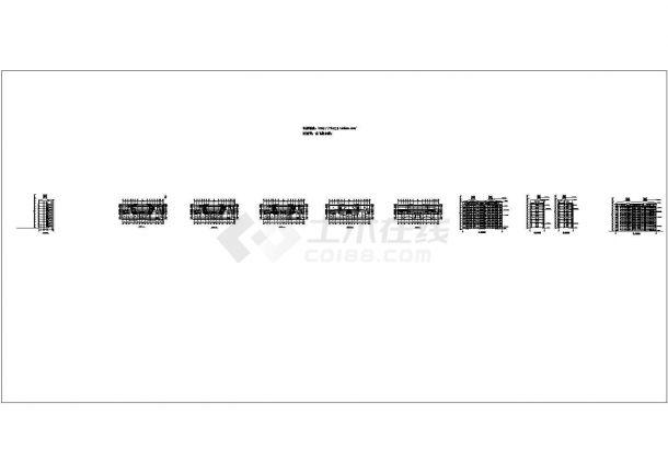 某 9层阁楼2单元每单元2户住宅楼设计图 cad图纸-图二