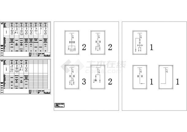 高压开关柜一次CAD平面系统图-图二