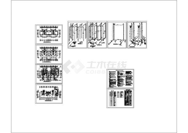 某高层住宅给排水及消防全套CAD图纸设计.dwg-图一