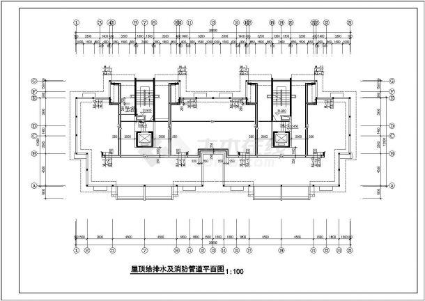 某高层住宅给排水及消防全套CAD图纸设计.dwg-图二