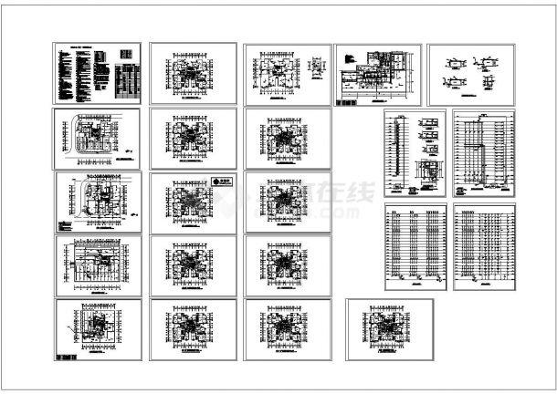 某二十五层高层住宅给排水全套设计CAD图纸.dwg-图一