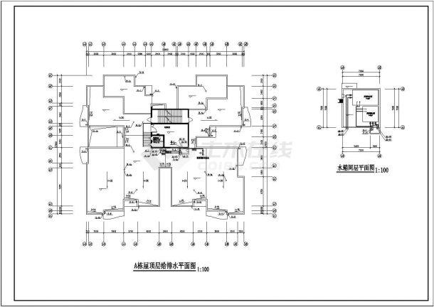 某二十五层高层住宅给排水全套设计CAD图纸.dwg-图二