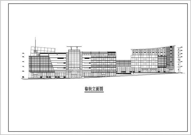 常州市某商业街1.3万平米6层框架百货商场平立剖面设计CAD图纸-图一