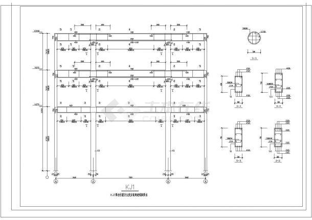 办公楼设计_某标准现代砖混结构办公楼设计详细施工CAD图纸-图二