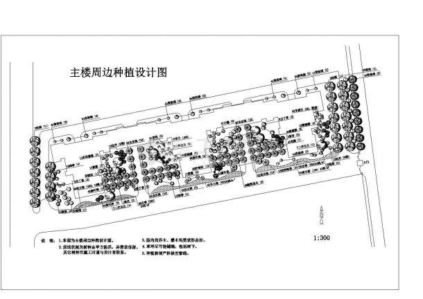 某高层住宅园林景观设计cad图,共八张-图一
