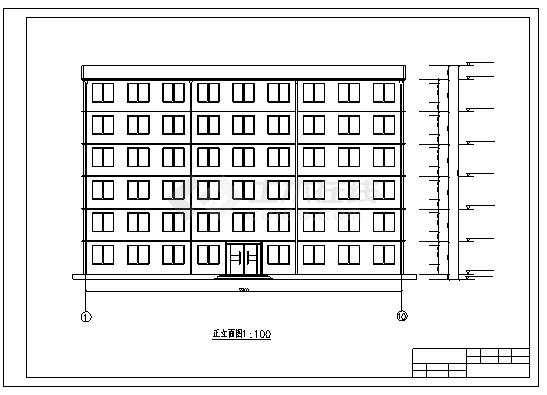 办公楼设计_某市六层钢筋混凝土框架结构办公楼结构施工cad图(含毕业设计)-图一