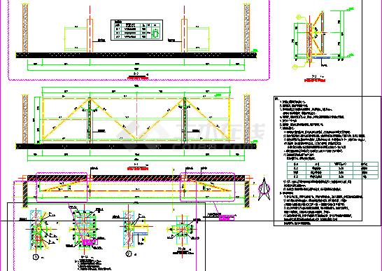 钢结构广告牌结构详图-图一