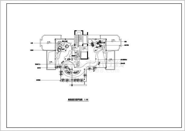 高层屋顶花园绿化设计施工图-图二