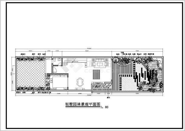 别墅园林景观设计施工图-图二