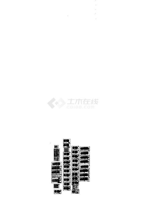 [重庆]旧城改造15层框支剪力墙安置房结构施工图,含结构设计总说明-图一