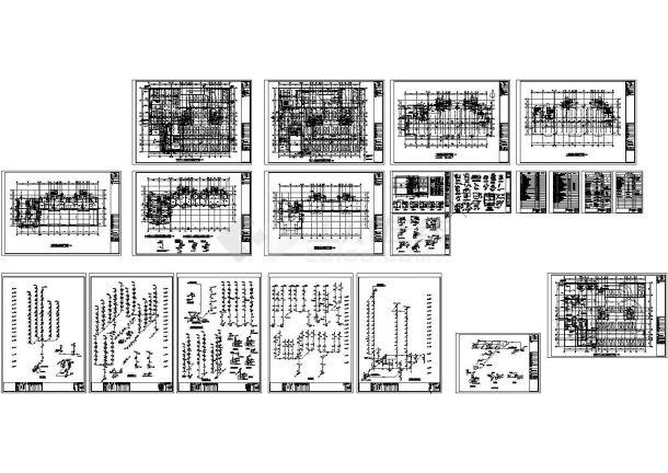 某规划院高层住宅给排水CAD全套图纸-图一