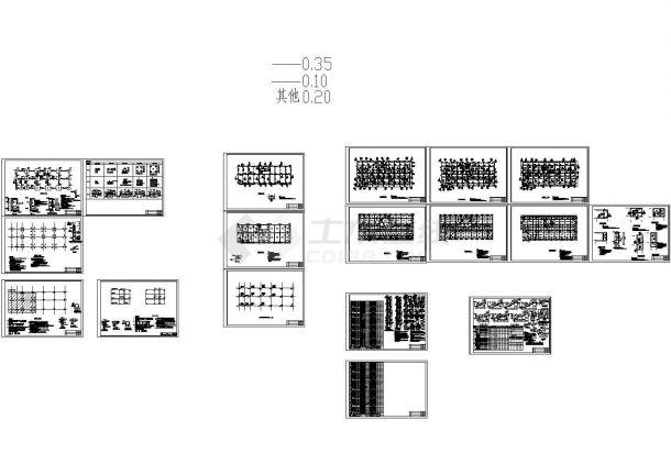 五层框架结构酒店结构施工图CAD-图一