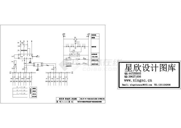 微机控制免维护直流屏接线原理设计cad图纸-图二