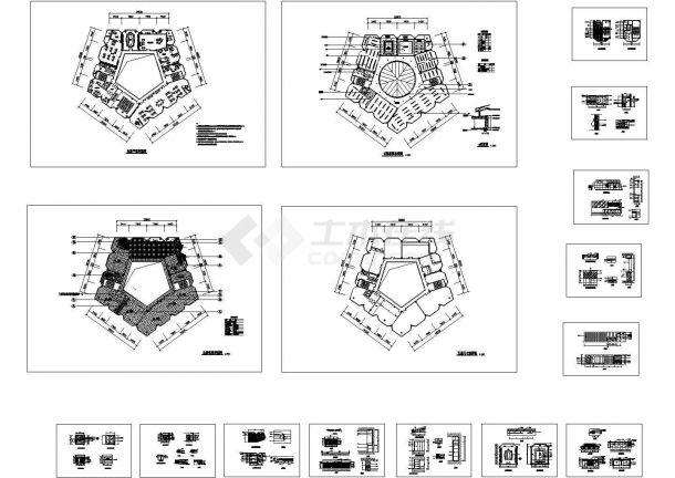 某售房部CAD装修设计施工图-图一