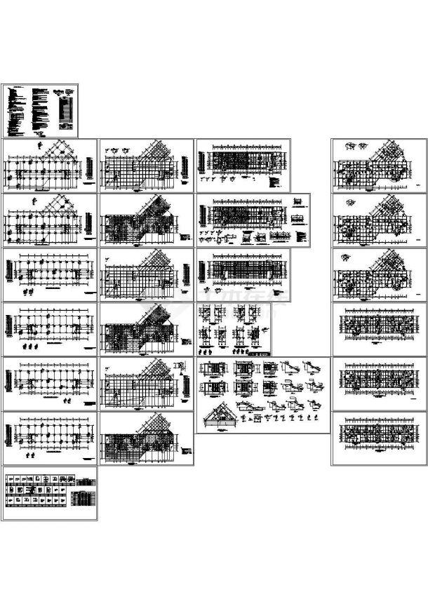 某16层框剪商住楼结构设计图CAD-图一