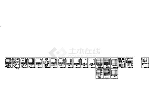 [江苏]4层框架办公楼结构设计图CAD-图一
