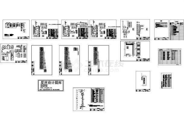 某化工厂高压双电源备自投设计cad图,共十四张-图二