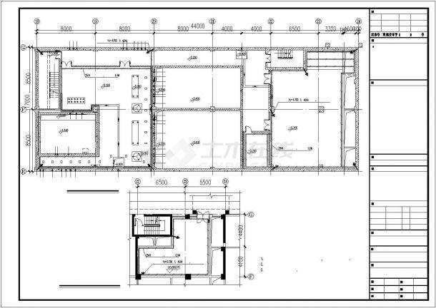 九层高综合大楼电气照明设计方案CAD图纸-图一