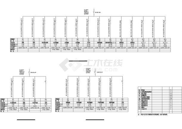 连锁餐厅厨房的电气设计方案CAD图纸-图一