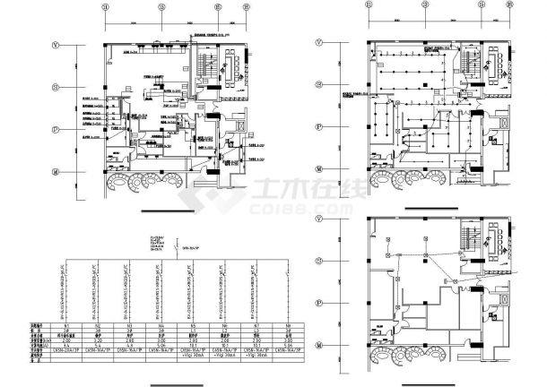连锁餐厅厨房的电气设计方案CAD图纸-图二