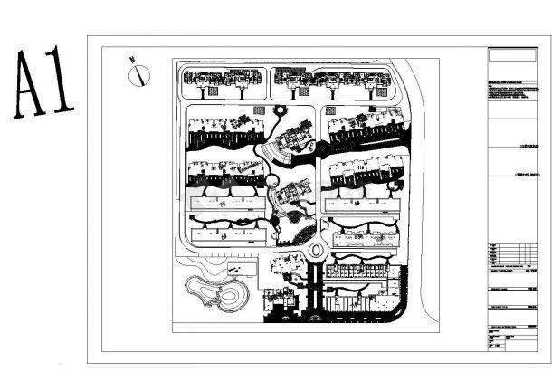江西小区园林景观施工图全套及效果图CAD-图二