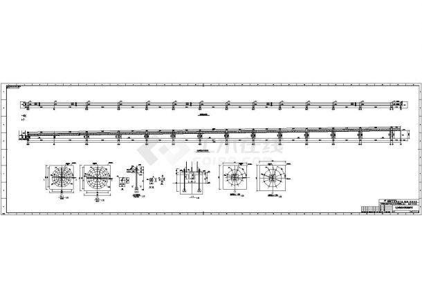 某输煤栈桥整套结构cad设计施工图(含设计说明)-图二
